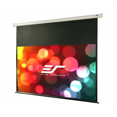 VMAX2 Series White Electric Projection Screen Viewing Area: 92 diagonal, Finish: Black Aluminum Case