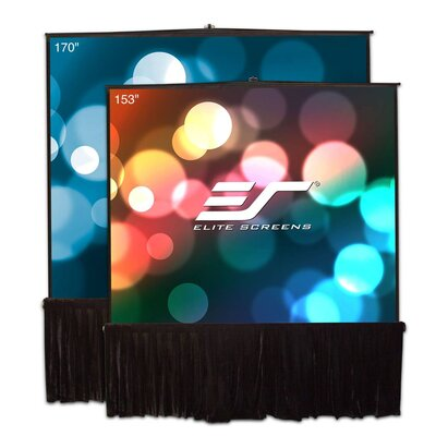 Tripod White Portable Projection Screen Viewing Area: 153