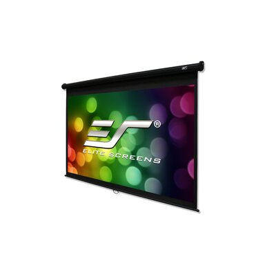 White 135 diagonal Manual Projection Screen Viewing Area: 135 Diagonal, 16:9