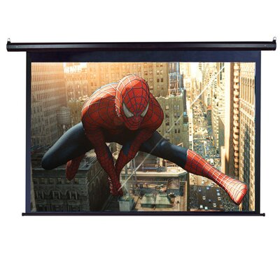 VMAX2 Series White Electric Projection Screen Viewing Area: 120 diagonal, Finish: Black Aluminum Case