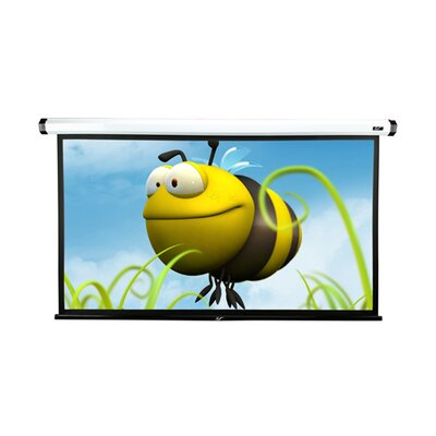 White Electric Projection Screen Viewing Area: 90 Diagonal in White Case