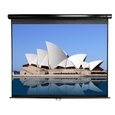 Manual Series White Manual Projection Screen Viewing Area: 128 diagonal