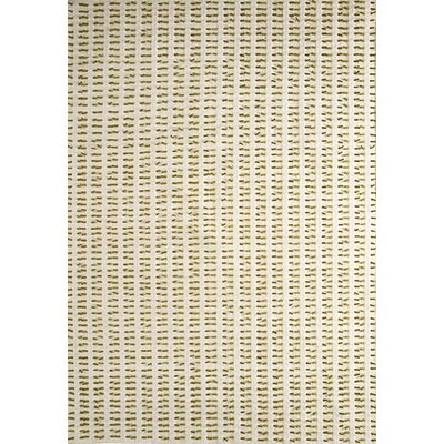 Avril White/Green Contemporary Area Rug Rug Size: Rectangle 56 x 710
