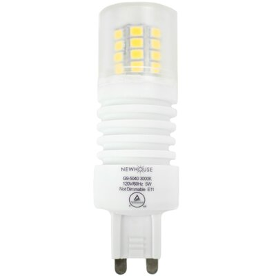G9/Bi-pin LED Light Bulb Wattage: 5W