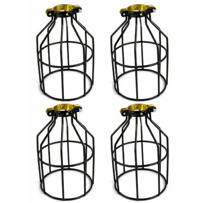 Metal Lamp Guard 1-Light Kitchen Island Pendant