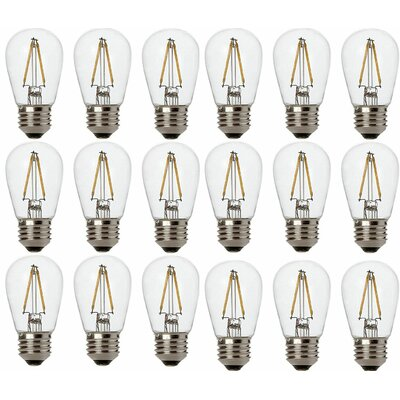 2W E26/Medium (Standard) S14 Medium LED Vintage Filament Light Bulb