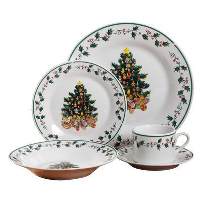 Tree Trimming 20 Piece Dinnerware Set 108171.2