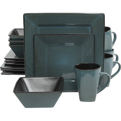 Jove 16 Piece Dinnerware Set Color: Blue