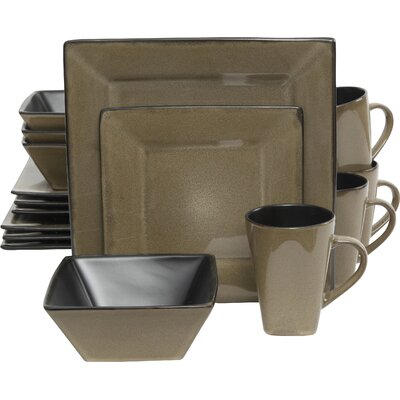 Jove 16 Piece Dinnerware Set Color: Taupe