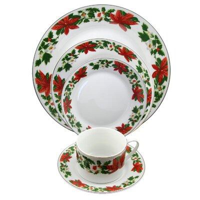 Ryder Poinsettia Holiday 20 Piece Dinnerware Set, Service for 4 AGTG4388 43228356