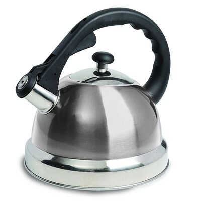 Mr. Coffee 1.7 Qt. Claredale Stainless Steel Whistling Stovetop Kettle 950100684M