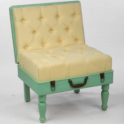Wooden Suitcase Slipper Chair