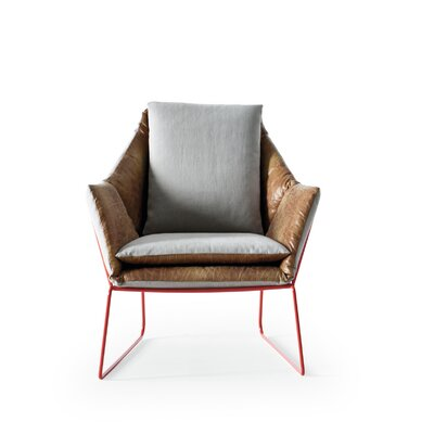 New York Armchair Finish: Red