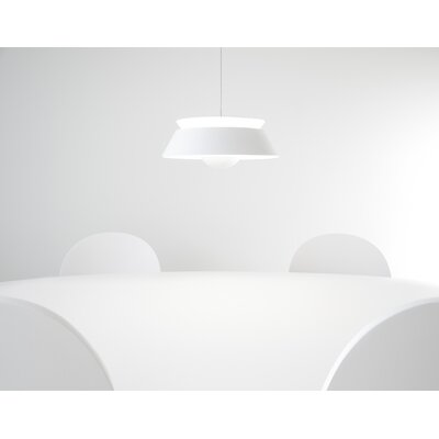 Undercliff 1-Light Plug-In Pendant Finish: Matte White, Cord / Cable Finish: White