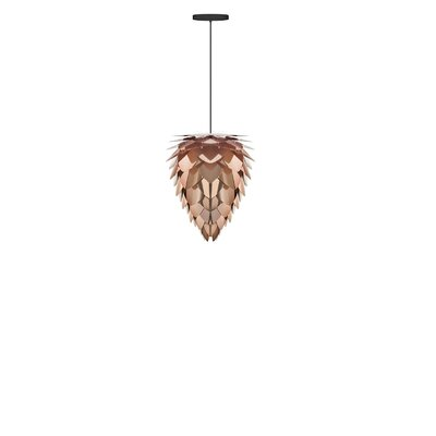 Yates Modern Hardwired 1-Light Geometric Pendant Base Finish: Black