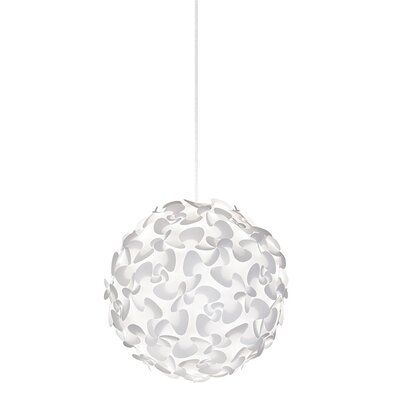 Whitworth 1-Light Globe Plug-In Pendant Cord / Cable Finish: White, Size: 17.7 H x 17.7 W x 17.7 D