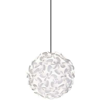 Whitworth 1-Light Globe Plug-In Pendant Cord / Cable Finish: Black, Size: 17.7 H x 17.7 W x 17.7 D