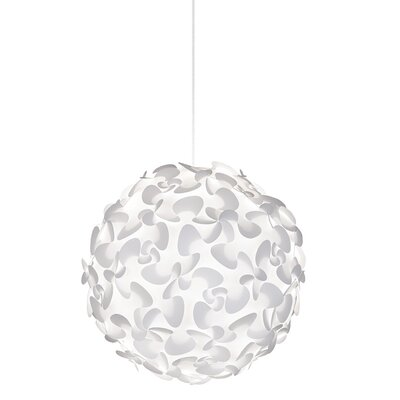Whitworth 1-Light Globe Plug-In Pendant Cord / Cable Finish: White, Size: 29.5 H x 29.5 W x 29.5 D