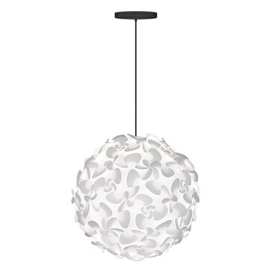 Whitworth 1-Light Globe Hardwired Pendant Cord/Cable Finish: Black, Size: 17.7 H x 17.7 W x 17.7 D