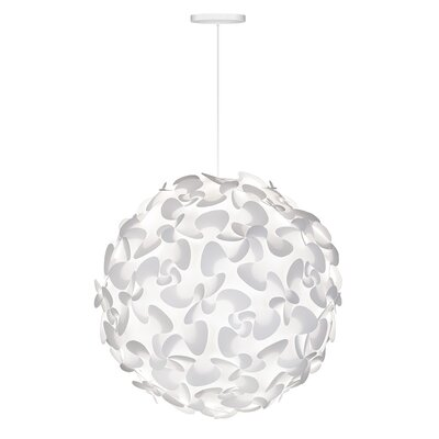 Whitworth 1-Light Globe Hardwired Pendant Cord/Cable Finish: White, Size: 29.5 H x 29.5 W x 29.5 D