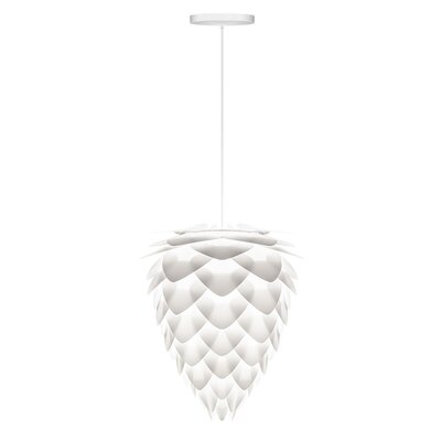 Yates 1-Light Hardwired Pendant Cord/Cable Finish: White, Size: 14.2 H x 11.8 W x 11.8 D