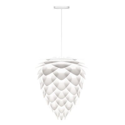 Yates 1-Light Hardwired Pendant Cord/Cable Finish: White, Size: 19.7 H x 15.7 W x 15.7 D