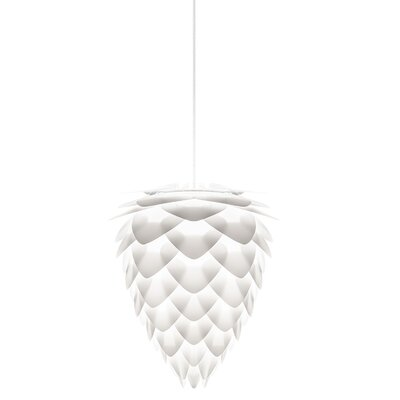 Yates 1-Light Plug-In Pendant Cord/Cable Finish: White, Size: 19.7 H x 15.7 W x 15.7 D