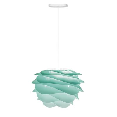 Crowthorne 1-Light Hardwired Geometric Pendant Cord/Cable Finish: White, Finish: Turquoise, Size: 8.6 H x 12.6 W x 12.6 D