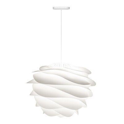Crowthorne 1-Light Hardwired Geometric Pendant Cord/Cable Finish: White, Finish: White, Size: 17.2 H x 18.9 W x 18.9 D