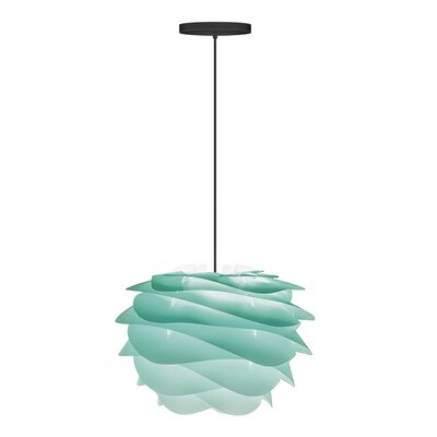 Crowthorne 1-Light Hardwired Geometric Pendant Cord/Cable Finish: Black, Finish: Turquoise, Size: 8.6 H x 12.6 W x 12.6 D