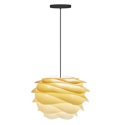 Crowthorne 1-Light Hardwired Geometric Pendant Cord/Cable Finish: Black, Finish: Sahara, Size: 8.6 H x 12.6 W x 12.6 D