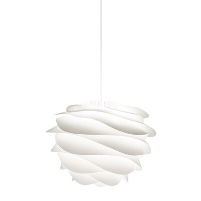 Crowthorne 1-Light Plug-In Geometric Pendant Cord/Cable Finish: White, Finish: White, Size: 17.2 H x 18.9 W x 18.9 D
