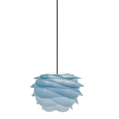 Crowthorne 1-Light Plug-In Geometric Pendant Cord/Cable Finish: Black, Finish: Azure, Size: 8.6 H x 12.6 W x 12.6 D