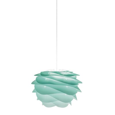 Crowthorne 1-Light Plug-In Geometric Pendant Cord/Cable Finish: White, Finish: Turquoise, Size: 8.6 H x 12.6 W x 12.6 D