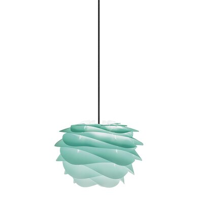 Crowthorne 1-Light Plug-In Geometric Pendant Cord/Cable Finish: Black, Size: 8.6 H x 12.6 W x 12.6 D, Finish: Turquoise