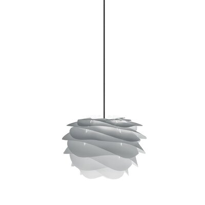 Crowthorne 1-Light Plug-In Geometric Pendant Cord/Cable Finish: Black, Finish: Grey, Size: 8.6 H x 12.6 W x 12.6 D