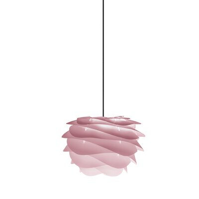Crowthorne 1-Light Plug-In Geometric Pendant Cord/Cable Finish: Black, Finish: Rose, Size: 8.6 H x 12.6 W x 12.6 D