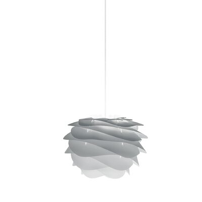 Crowthorne 1-Light Plug-In Geometric Pendant Size: 8.6 H x 12.6 W x 12.6 D, Cord/Cable Finish: White, Finish: Grey