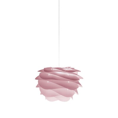 Crowthorne 1-Light Plug-In Geometric Pendant Cord/Cable Finish: White, Finish: Rose, Size: 8.6 H x 12.6 W x 12.6 D