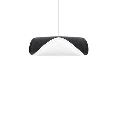 Angelyn 1-Light Plug-In Pendant Cord/Cable Finish: Black