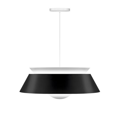 Undercliff 1-Light Hardwired Pendant Cord / Cable Finish: White, Finish: Matte Black