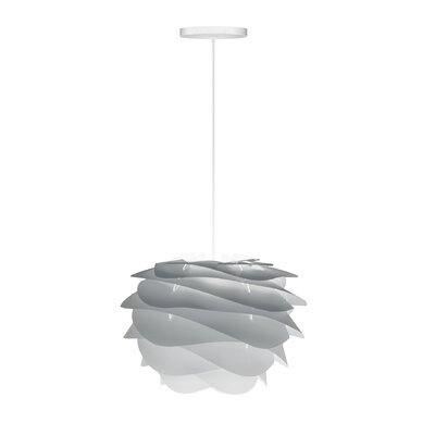 Crowthorne 1-Light Hardwired Geometric Pendant Cord/Cable Finish: White, Finish: Grey, Size: 8.6 H x 12.6 W x 12.6 D