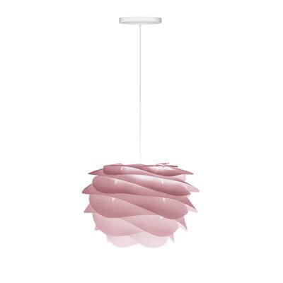 Crowthorne 1-Light Hardwired Geometric Pendant Cord/Cable Finish: White, Finish: Rose, Size: 8.6 H x 12.6 W x 12.6 D
