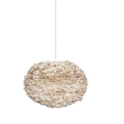 Bradway Hardwired 1-Light LED Gray Globe Pendant Size: 15.7 H x 25.6 W x 25.6 D, Shade Color: Light Brown, Base Finish: White