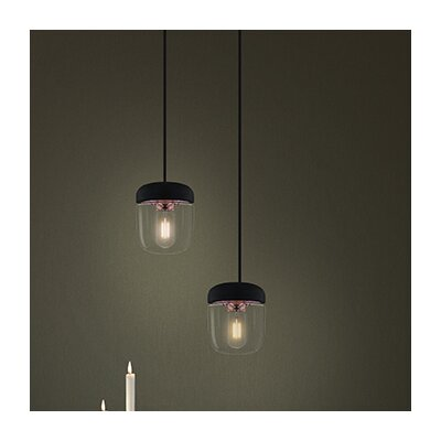 Upper Strode 1-Light Mini Pendant Finish: Polished Copper, Base Finish: Black