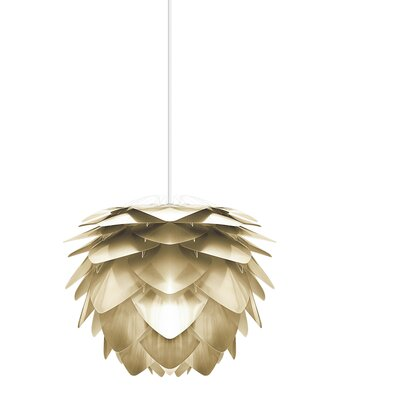 Deerfield Hardwired 1-Light LED Geometric Pendant Base Finish: White, Size: 17.7 H x 17.7 W x 17.7 D