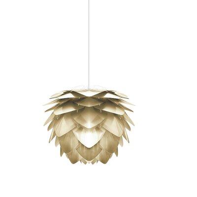 Deerfield Plug-In 1-Light LED Geometric Pendant Base Finish: White, Size: 10.6 H x 13.4 W x 13.4 W