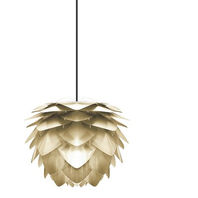 Deerfield Plug-In 1-Light LED Geometric Pendant Base Finish: Black, Size: 10.6 H x 13.4 W x 13.4 W