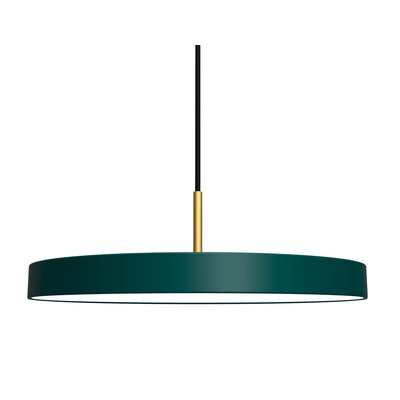 1-Light LED Drum Pendant Shade Color: Forest Green