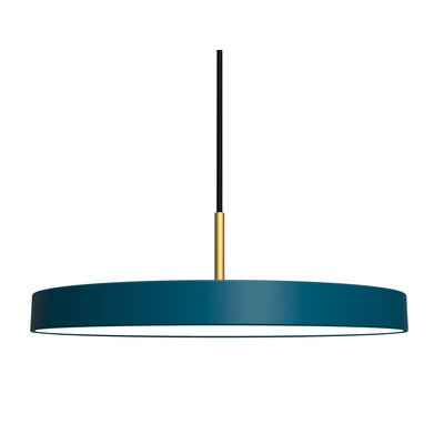 1-Light LED Drum Pendant Shade Color: Ocean